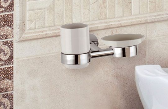 cup holder with soap dish holder